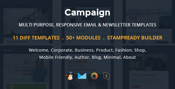 Digit - Multipurpose Responsive Email Template With Stampready Builder & Mailchimp Access - 6