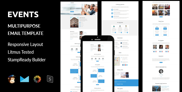 Digit - Multipurpose Responsive Email Template With Stampready Builder & Mailchimp Access - 7