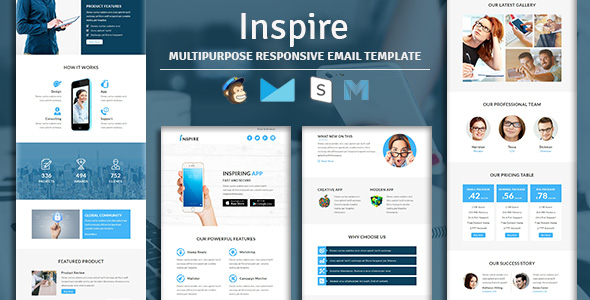 Bluemoon - Multipurpose Responsive Email Template With Stampready Builder & Mailchimp Access - 2