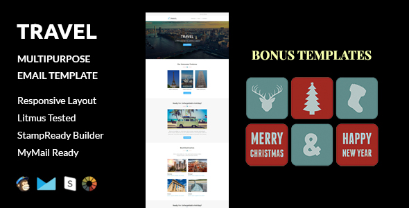 Vacation - Multipurpose Responsive Email Template With Stampready Builder & Mailchimp Access - 3